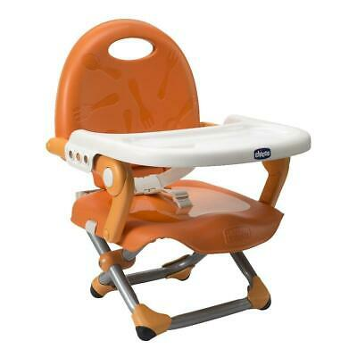 Chicco Pocket Snack Highchair Booster Seat (Mandarino) - Suitable From 6 Months