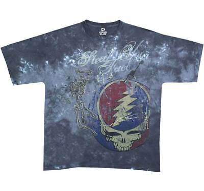 New Men's Adult  Grateful Dead Steal Your Face Distressed Printed  T-Shirt XL