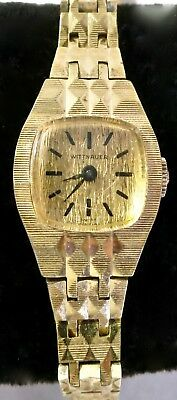 Working Vintage Wittnauer Ladies Gold Tone Base Metal Windup Wristwatch Watch