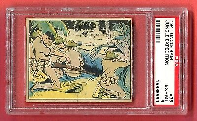 1941 Gum, Inc. Uncle Sam Card #35 Jungle Expedition PSA 6 EX-MT