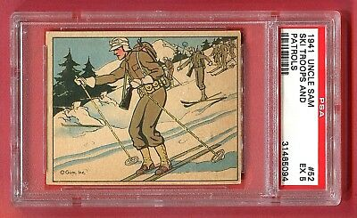 1941 Gum, Inc. Uncle Sam Card #52 Ski Troops and Patrols PSA 5 EX