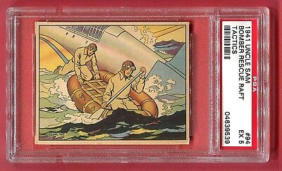1941 Gum, Inc. Uncle Sam Card #94 Bomber Rescue Raft Tactics PSA 5 EX