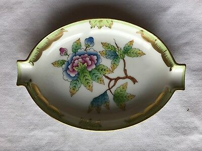 Vintage Herend Porcelain QUEEN VICTORIA Oval Pin Tray Dish Ashtray 7783