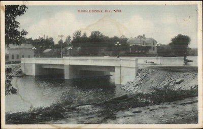Kiel WI Bridge c1910 Postcard