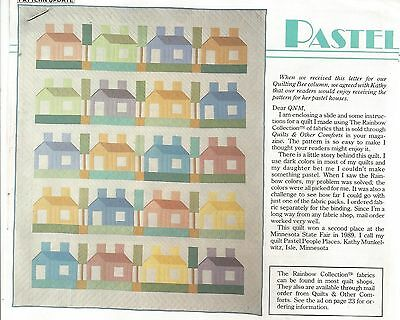 H0101 Pastel People Places Quilt Pattern/instructions