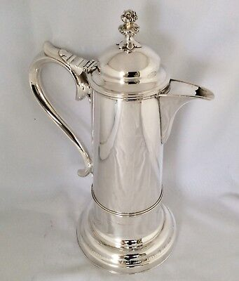 "Rare 19th Century Ecclesiastical 14"" Silver Plated COMMUNION FLAGGON Dated 1867"
