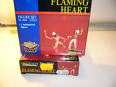 "zu Spur G/LGB  POLA 1834 , 2 Figuren-Indianer ""Flaming  Heart"""