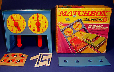 """1970""""MATCHBOX SF-18 LAP-COUNTER RUNDENZÄHLER SUPERFAST""""TOP MIB komplette Decales"""