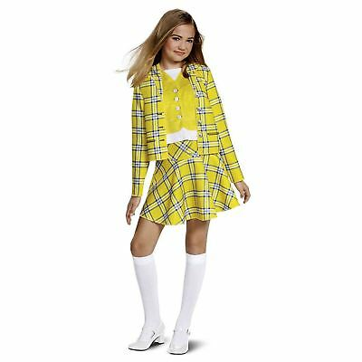 Teen Girl Child Cher Clueless Yellow Plaid Skirt Jacket Halloween Costume M L XL