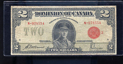 1923 Dominion of Canada $2 McCavour Saunders Red Seal BL5193