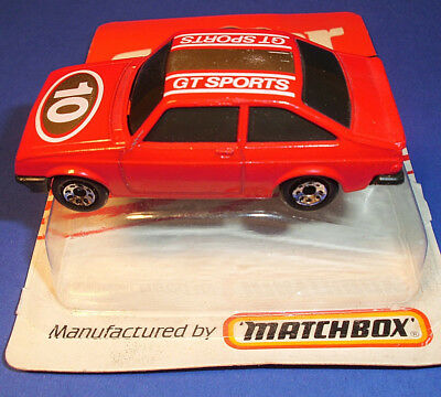 """1985""""FORD-ESCORT  RS-2000 MATCHBOX superfast 9G"""" SUPER GT SPORTS Made in England"""
