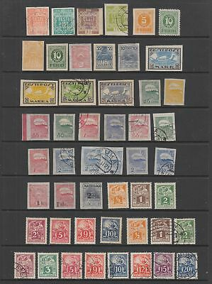 Estonia 1918- 1930 collection , 92 stamps