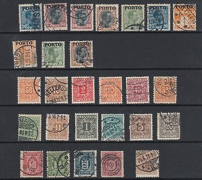 Denmark Parcel Post , Newspaper stamps etc collection