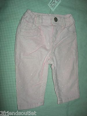 THE CHILDREN'S PLACE Baby Girl's 0-3 mos Pink Glitter Corduroy Pants ~ NWT ~