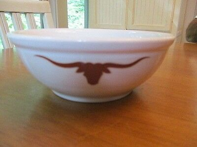 Jackson Restaurant Ware Western LONGHORN CATTLE BRAND CHILI * SOUP * CEREAL BOWL