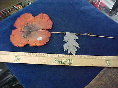 "Awesome Orig WW1 Very Large POPPY ""Currie"" Vetcraft Canadian Legion 10 Inches"