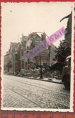 photo orig all VALENCIENNES NORD DESTRUCTIONS CAMION   FRANCE 1940 ww2 a5