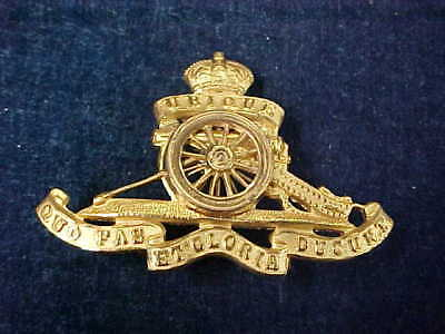 "Gorgeous Orig WW2 Officers Cap Badge ""RCA"" Royal Canadian Artillery"