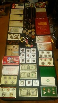 BIG coin LOT collection JEWELRY BANK BAG MINT SETS 40% SILVER+NO JUNK DRAWER