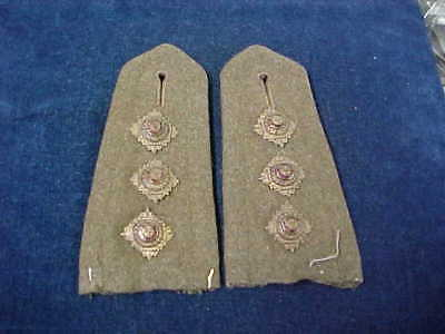 "Orig WW2 Officers Pr Of Uniform Removed Captains Epaulettes RCA ""Service Tunic"""