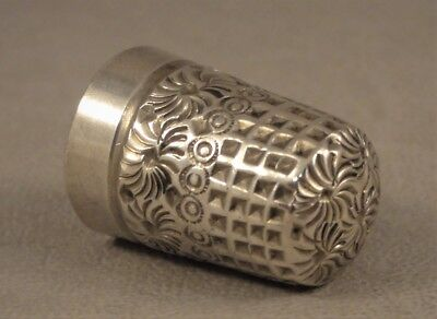 Size 8 Antique Silver Thimble James Fenton Birmingham 1907