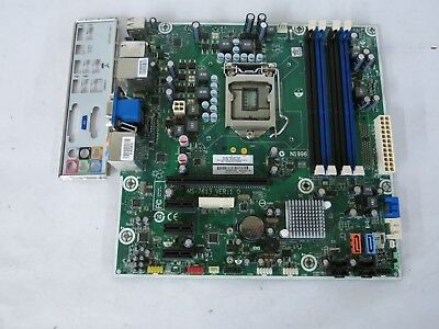 HP Intel MS-7613 Socket LGA1156 MicroATX Motherboard 575765-001 with I/O Shield