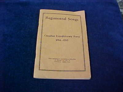 Named Orig WW1 Regimental Song Book 35th Btn & CE Killed In Action 1917 Engineer