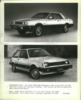 1979 Press Photo Dodge Challenger and Dodge Colt RS for 1980