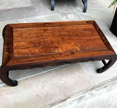 Very Fine Antique Chinese Carved Huanghuali Rosewood Kang Low Table Stand