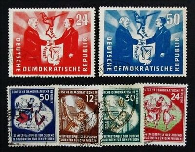 nystamps Germany DDR Stamp # 80 // 88 Used $59