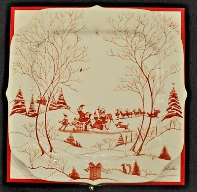 Juliska Country Estate Winter Frolic Ruby Cookie Serving Tray Plate in Box
