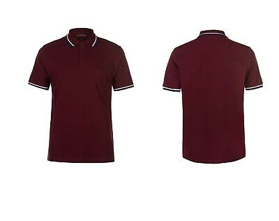 """**to Clear** Mens Pierre Cardin Tipped Polo Shirt Size 2Xl 48/50"""""""" Chest Bnwt"""