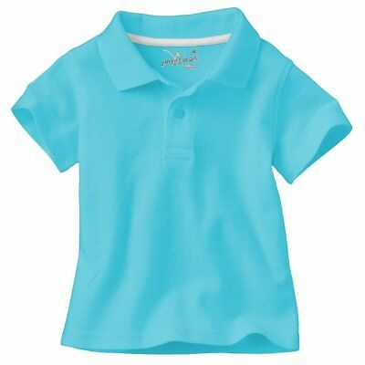 Jumping Beans Boys' Turquoise Short Sleeve Pique Polo Shirt - Select a size