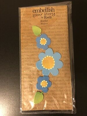Embellish Your Story By Roeda Flower Border Magnet NEW
