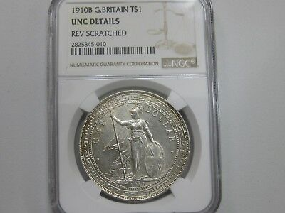 1901B Great Britain Trade Dollar Ngc Unc Beautiful Coin!