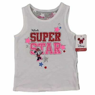 Disney Minnie Mouse Toddler Girls' Super Star Embellished Sleeveless Tank Top