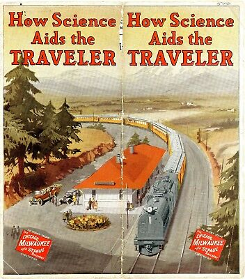 """The Chicago, Milwaukee & St. Paul Railway booklet,""""How Science Aids the Traveler"""