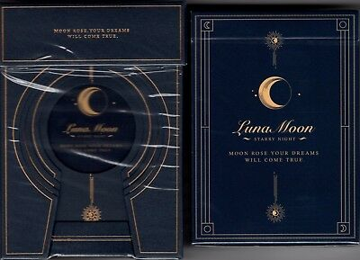 Luna Moon Deluxe 2 Deck Set Classic & Deluxe Playing Cards Poker Size USPCC New
