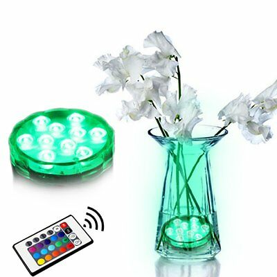 10x RGB LED Underwater Swimming Pool Diving Spa Bath light Lamp Remote Control