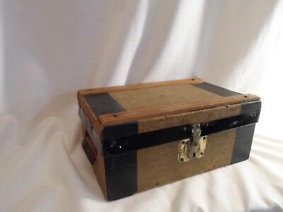 antique doll trunk or salesman sample trunk, make great  jewelry box
