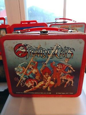 1985 Thundercats Vintage Aladdin Metal Lunchbox With Original Thermos