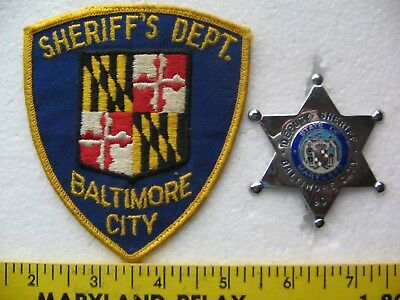 BALTIMORE CITY SHERIFF'S DEPT. / DEPUTY SHERIFF BADGE - MD. set of 2