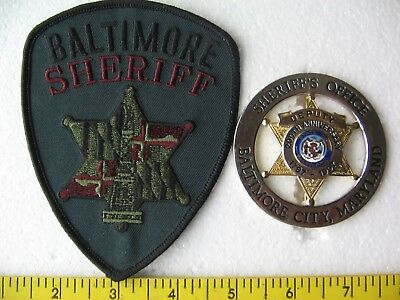 BALTIMORE SHERIFF / 200th ANNIVERSARY BADGE  - MD. set of 2