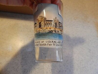 Palace of Liberal Arts St. Louis World's Fair 1904 Souvenir Painted Image Glass