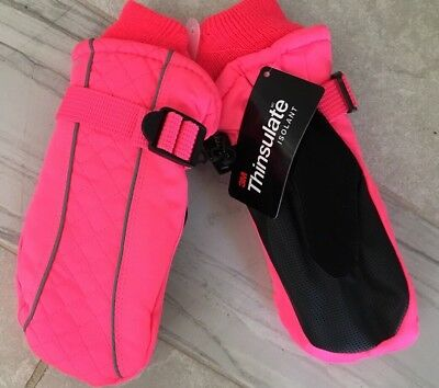 C9 THINSULATE WATERPROOF GIRLS One Size MITTENS Hot Pink WINTER SNOW GLOVES