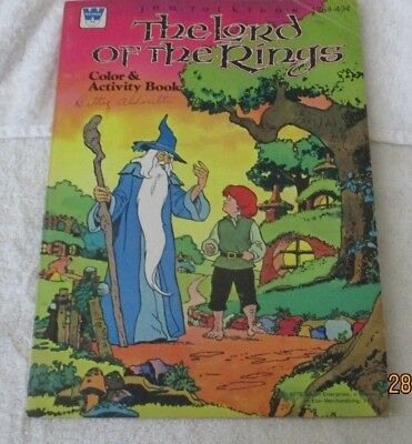 Vintage Whitman 1979 J.R.R. Tolkien The Lord of The Rings Color Activity Book
