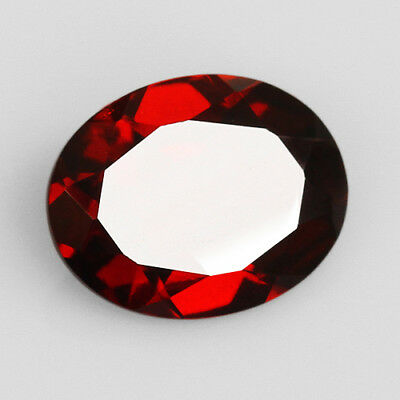 3Ct 100% Natural Blood Red Pyrope Garnet Rhodolite Faceted Cut QRA414