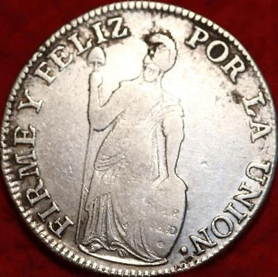 1836 Peru 4 Reales Silver Foreign Coin