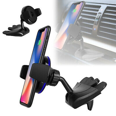 Qi Wireless Car Charger CD Slot Mount Holder For iPhone 8 Plus 8 X Galaxy Note 8