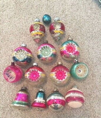 Shiny Brite Christmas Ornaments   Ball Double Indent Crater  Bells